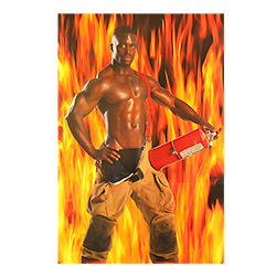 Hilarious Pin The Hose on The Fireman Game Poster