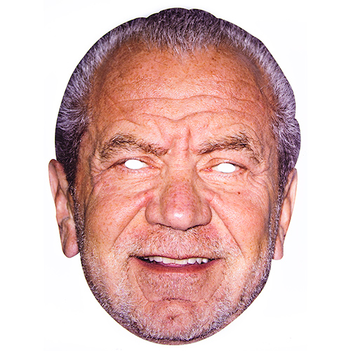 Cardboard Mask of Alan Sugar