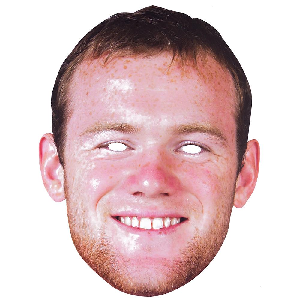 Wayne Rooney Cardboard Mask