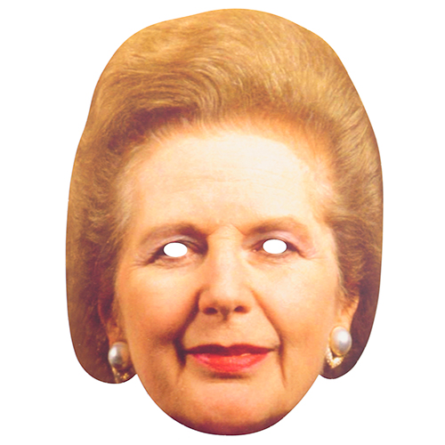 Cardboard Maggy Thatcher Mask