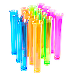 Multi Coloured Tube Shots Standing Upright