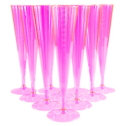 Pink Champagne Flutes Set Up