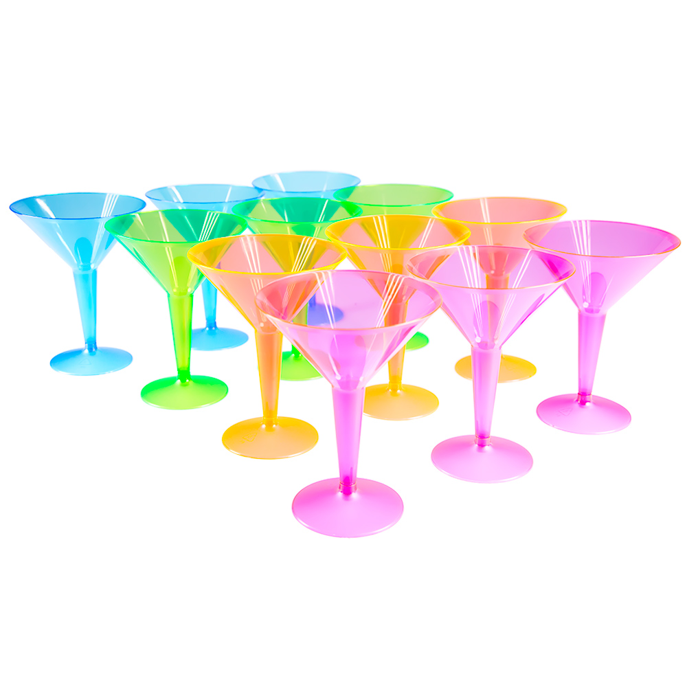 Standing Neon Martini Glasses