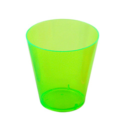 Green Multi Coloured Shot Glasses