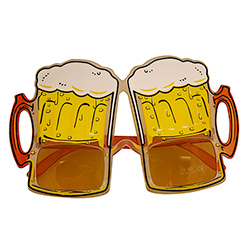 The beer goggles with the legs folded