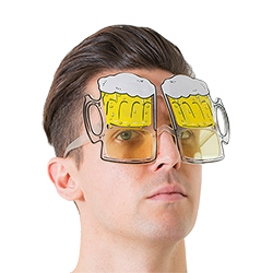 Somebody wearing the beer goggles