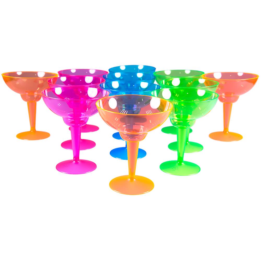 Standing Multi Coloured Margarita Glasses