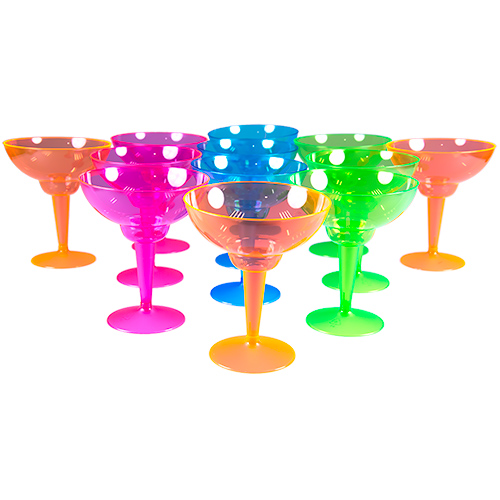 Standing Multi Coloured Margarita Glasses