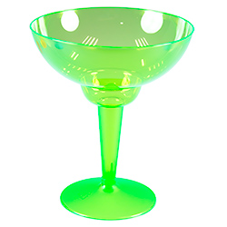 Green Multi Coloured Margarita Glasses