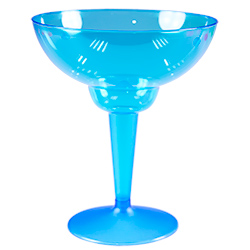 Blue Multi Coloured Margarita Glasses