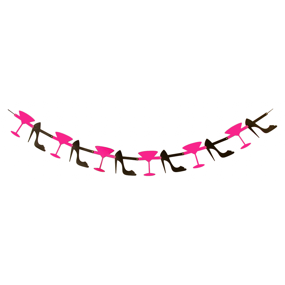 Pink and Black Glitter Garland
