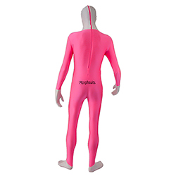 Back Of Pink UV Tuxedo Morphsuit