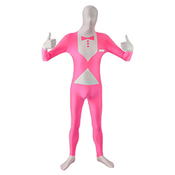 Thumbs Up Pink UV Tuxedo Morphsuit