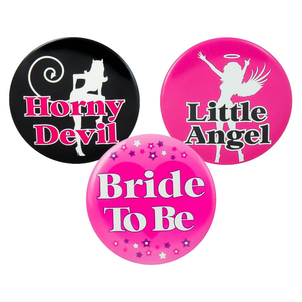 Angel and Devil Badge Set