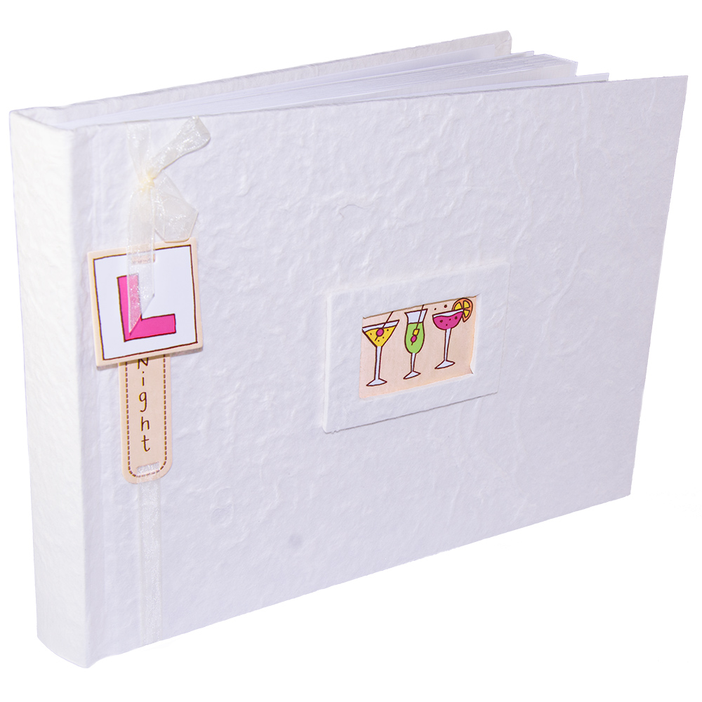 Traditional Hen Night Photo Album In Front Of White Background