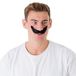Wearing the moustache upside down
