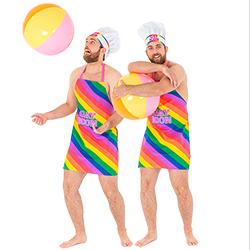 Bright Multi Coloured Gay Icon Apron