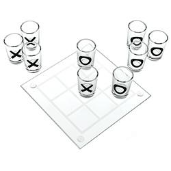 Tic Tac Toe Shot Game On White Background
