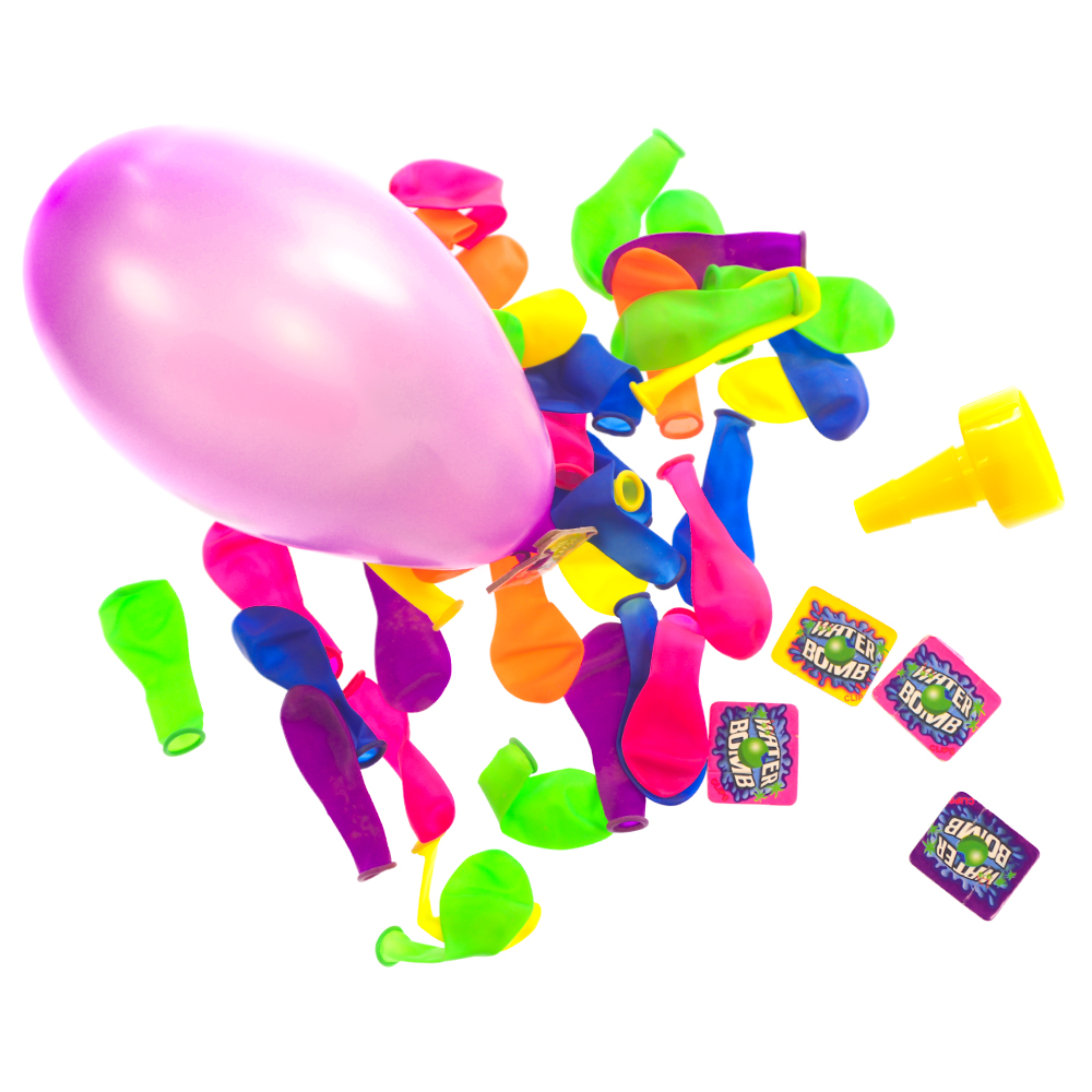 Water Bombs On White Background