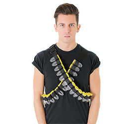 Model Wearing Shot Bandolier