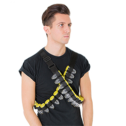 Shot Bandolier with Detachable Shot Glasses