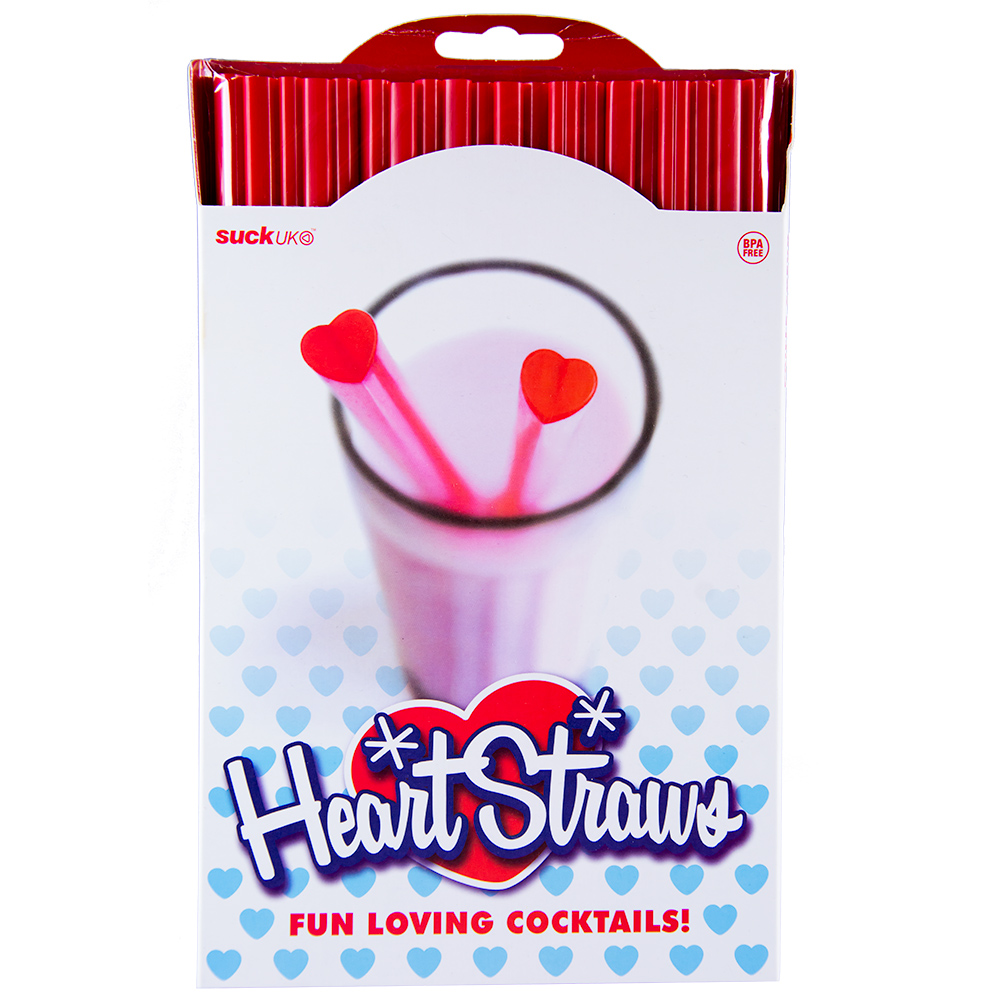 Heart Shaped Straws Front Packaging
