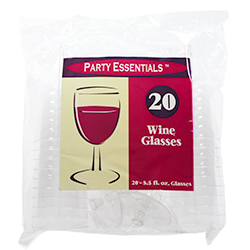 Clear Plastic Wine Glasses Packaging