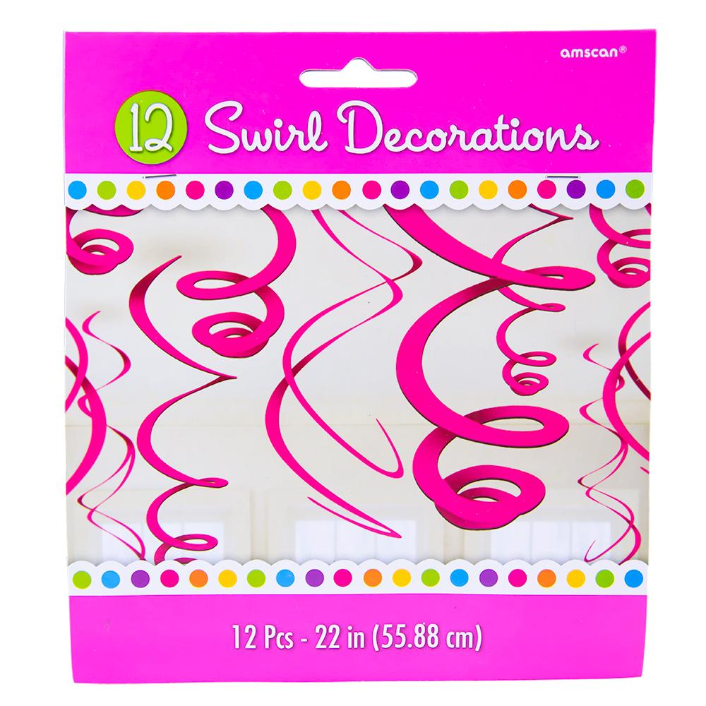 Pink Swirl Decorations