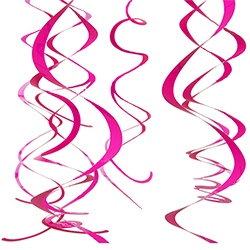 Pink swirling decorations