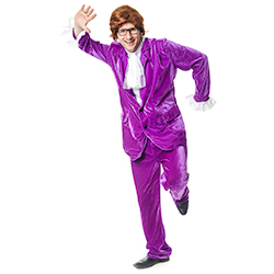 Purple Austin Powers costume