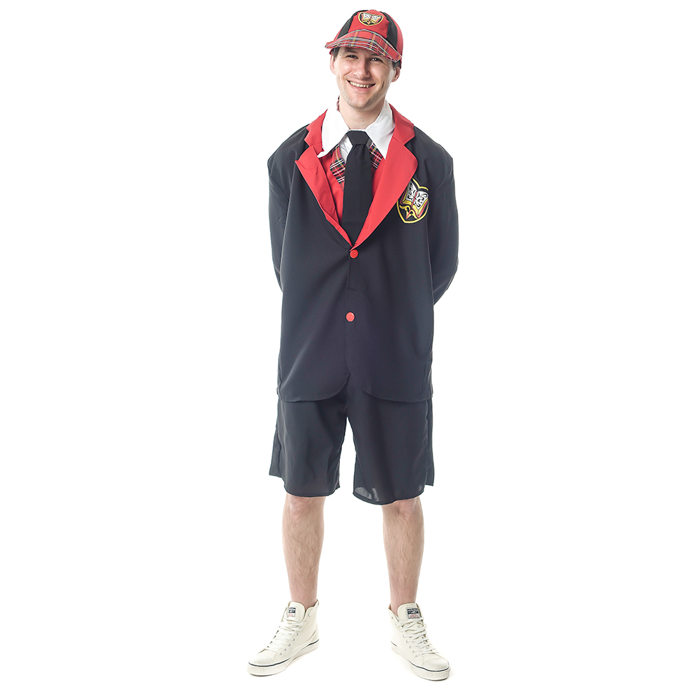 Model Wearing School Uniform For Grown Ups