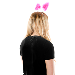 Back View Hot Pink Hen Party Warning Boppers