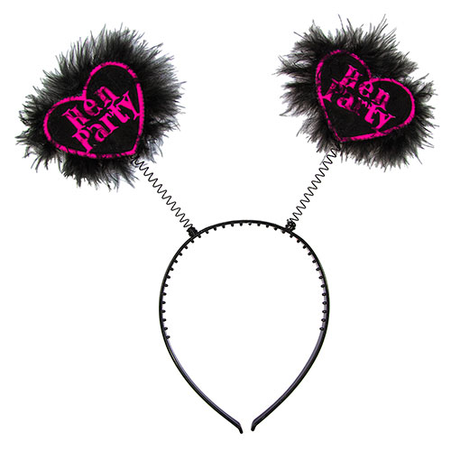Hen Party Love Heart Boppers On White Background