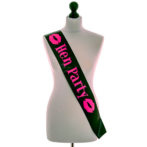 Miss Chief Black Hen Party Sash
