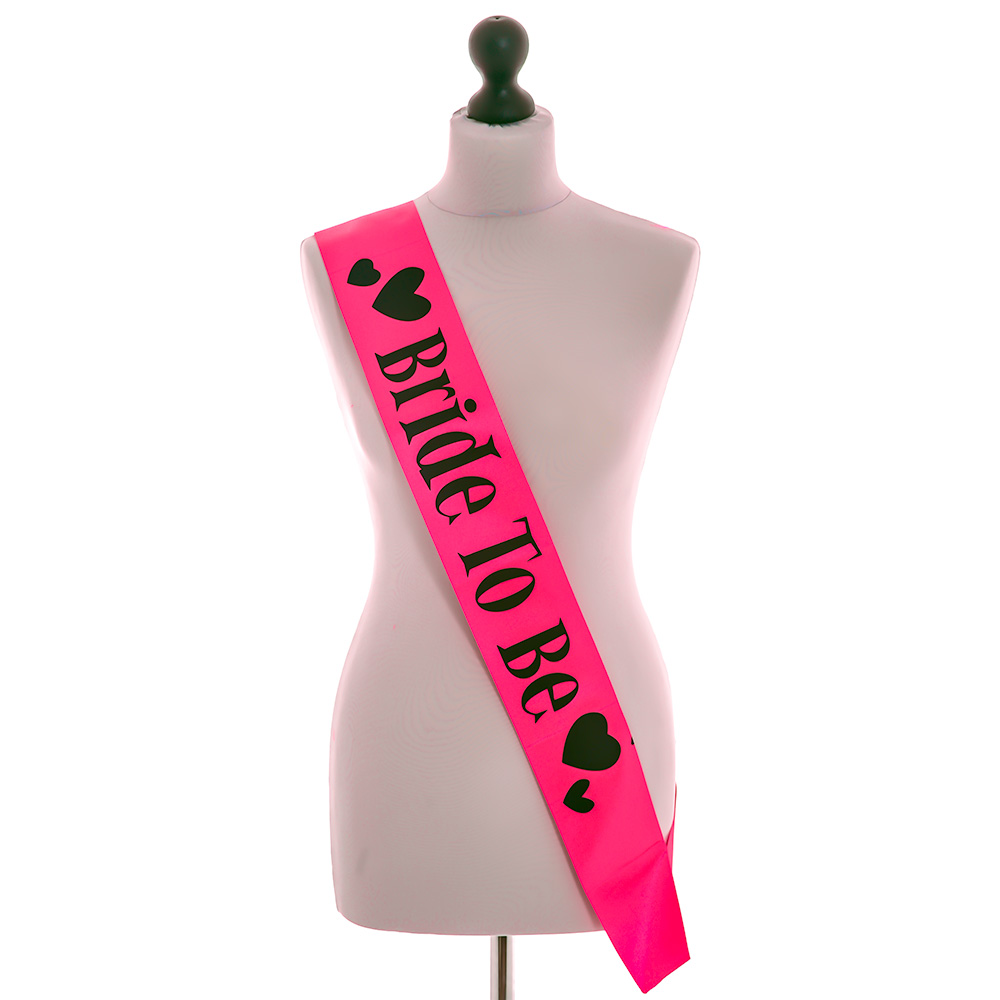 Miss Chief Pink Bride to Be Sash