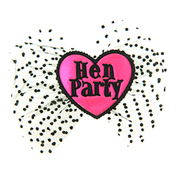 Hen Party Hair Bow On White Background