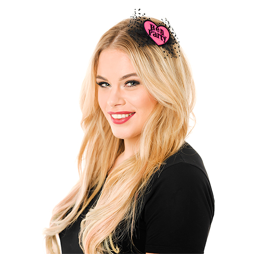 Model Wearing Hen Party Hair Bow