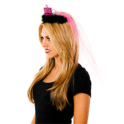 Black and Pink Brides Tiara