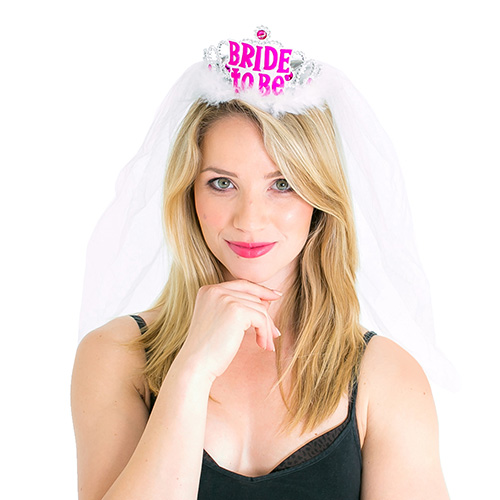 White Brides Tiara With Veil