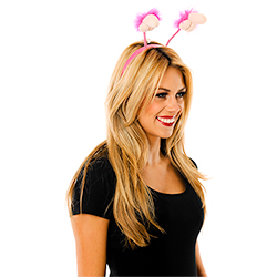 Plush Willy Boppers With Hot Pink Trim
