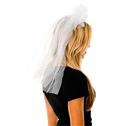 Veil on Headband Side View