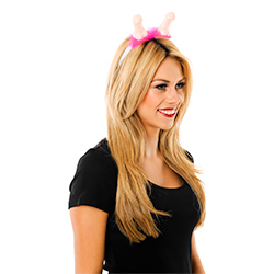 Side View Of Willy Boppers With Pink Trim Being Worn By Model