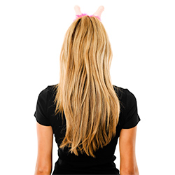 Back View Of Willy Boppers With Pink Trim Being Worn By Model