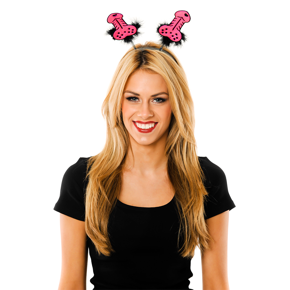 Model Wearing Pink Willy Boppers with Black Trim