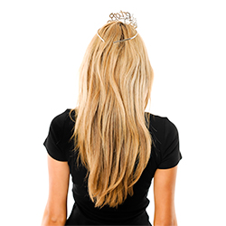 Model Back View Diamante Bride To Be Tiara