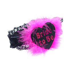 Black Shiny Heart Bride To Be Garter