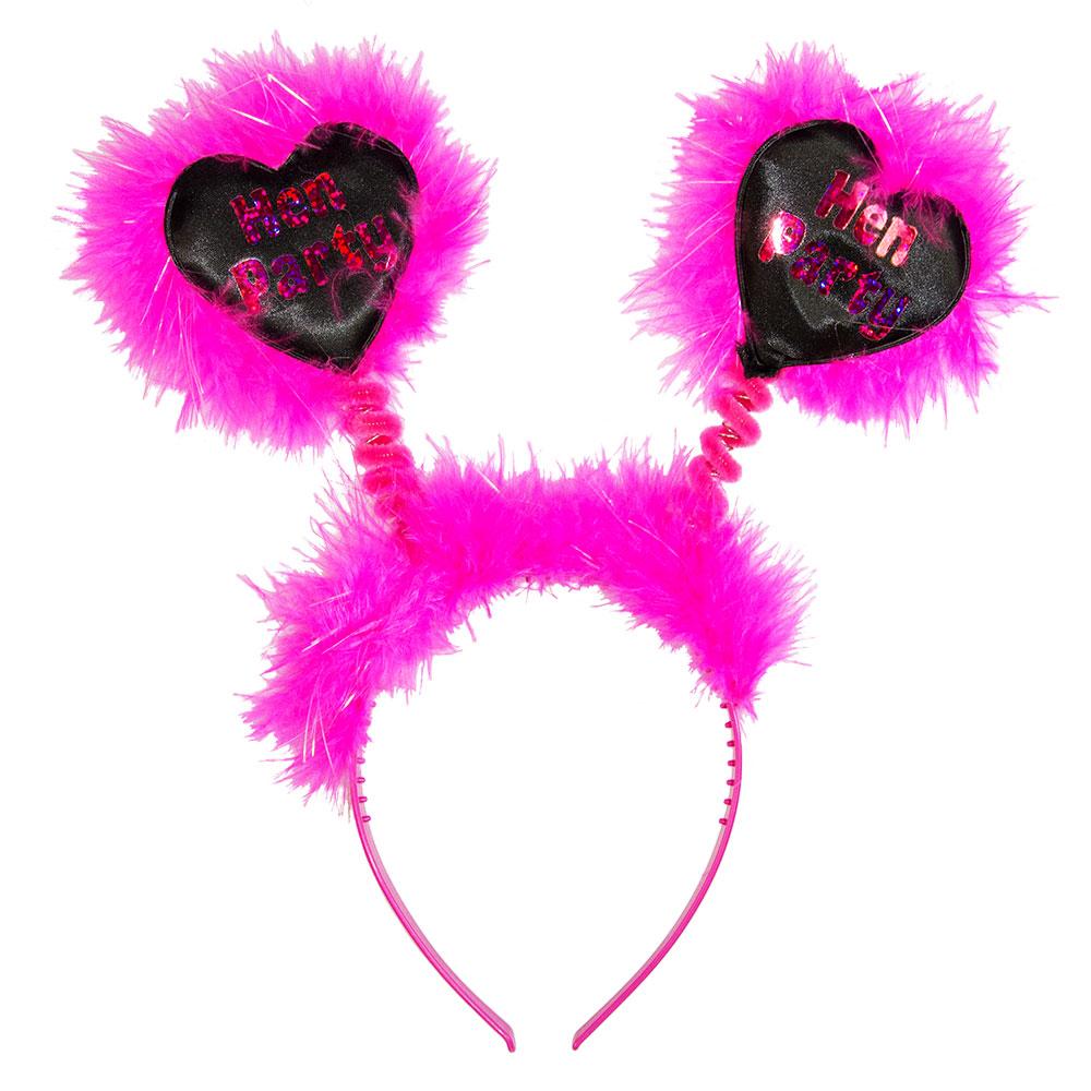 Black Shiny Heart Hen Party Boppers