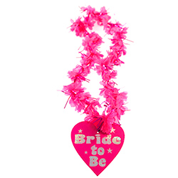 Product Image Of Shiny Pink Bride to Be Lei