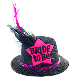 Black Mini Bride to Be Top Hat
