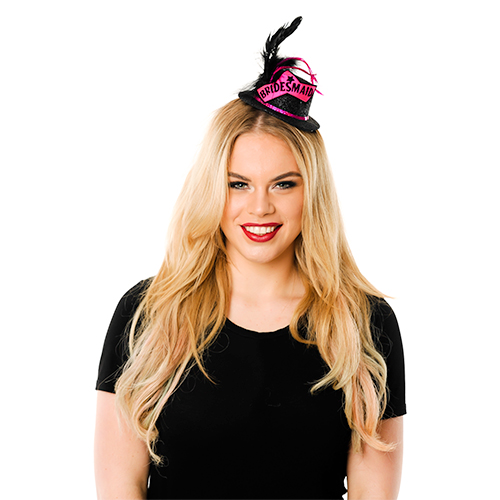 Black Mini Bridesmaid Top Hat